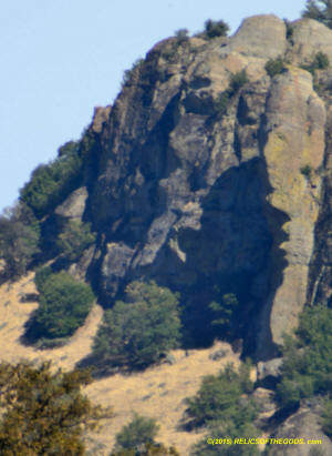 Sutter Buttes Twin Peaks Bluff Shadow Face